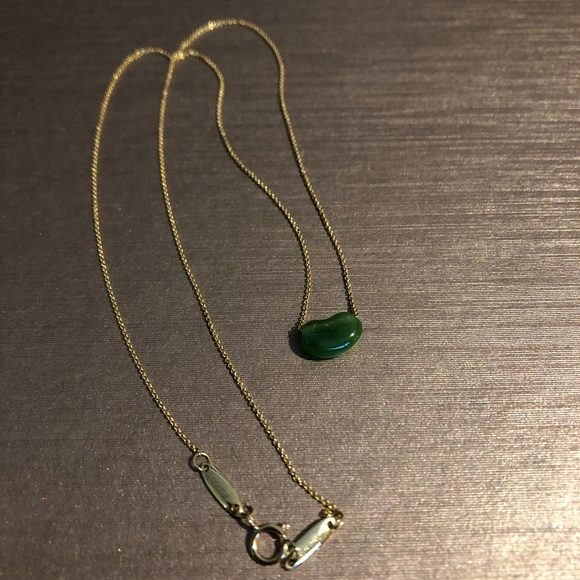 4809c90a3 Tiffany & Co. Jewelry | Tiffany Co Elsa Peretti Jade Bean Gold ...